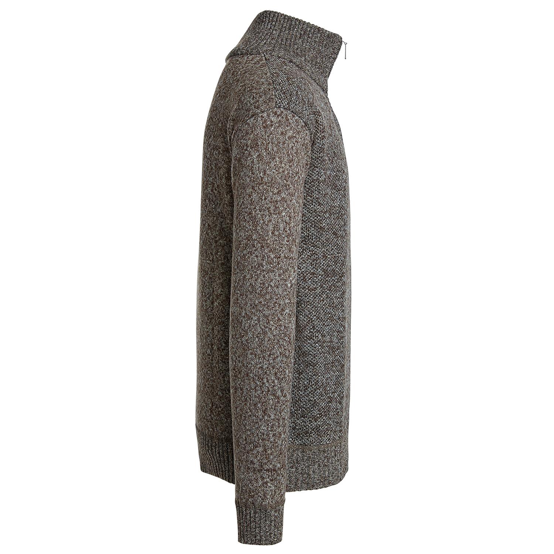 Alta-Men-039-s-Casual-Fleece-Lined-Half-Zip-Sweater-Jacket thumbnail 4