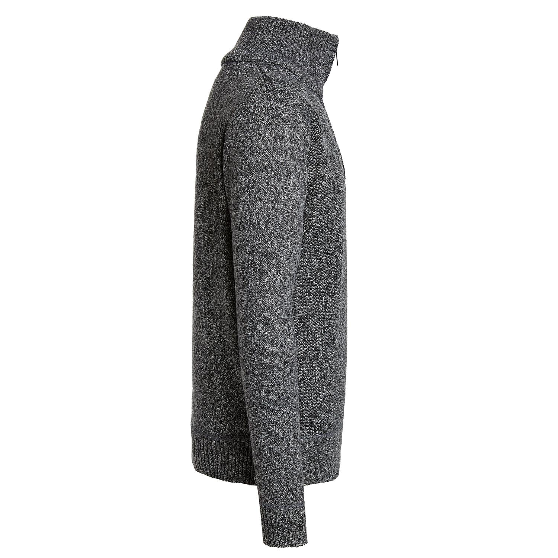 Alta-Men-039-s-Casual-Fleece-Lined-Half-Zip-Sweater-Jacket thumbnail 7