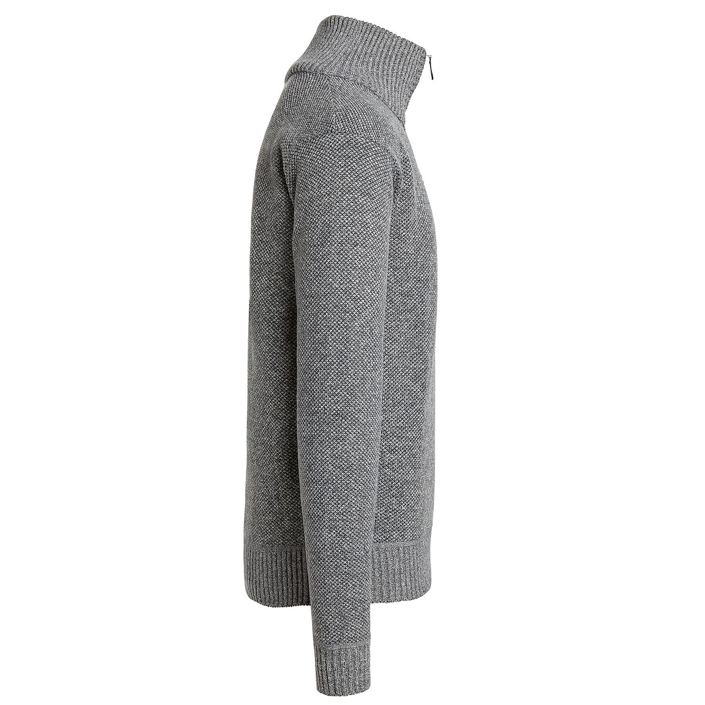 Alta-Men-039-s-Casual-Fleece-Lined-Half-Zip-Sweater-Jacket thumbnail 16