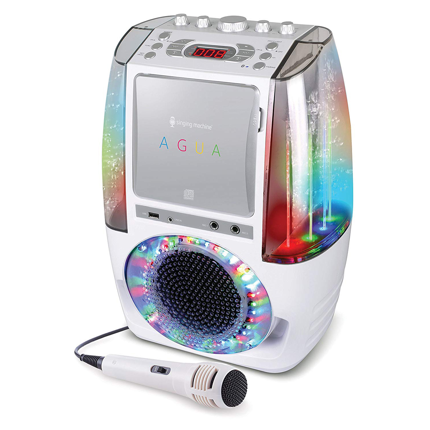 Singing-Machine-Agua-SML605-At-Home-Karaoke-System-w-LED-Disco-Lights thumbnail 19