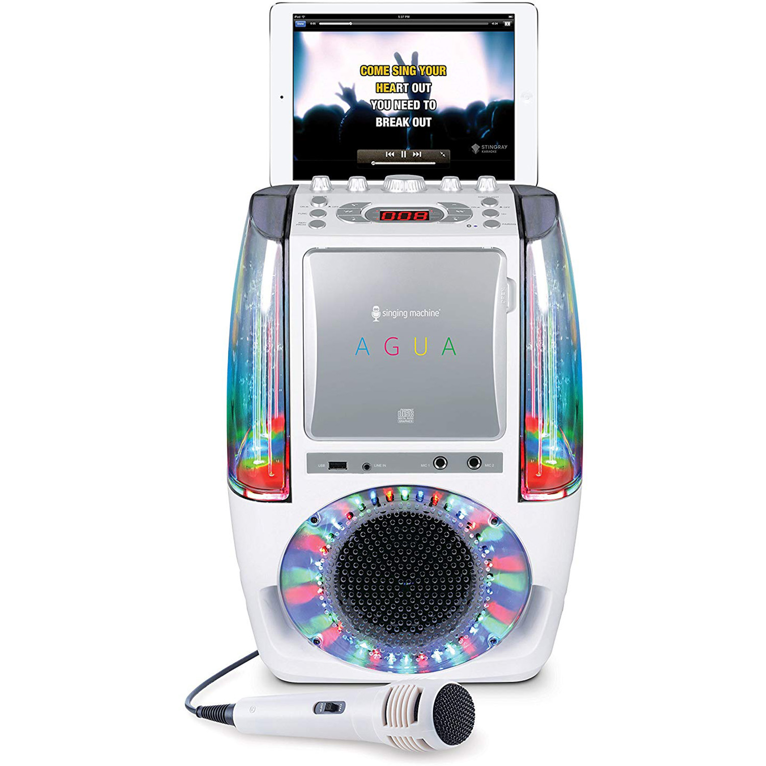 Singing-Machine-Agua-SML605-At-Home-Karaoke-System-w-LED-Disco-Lights thumbnail 20