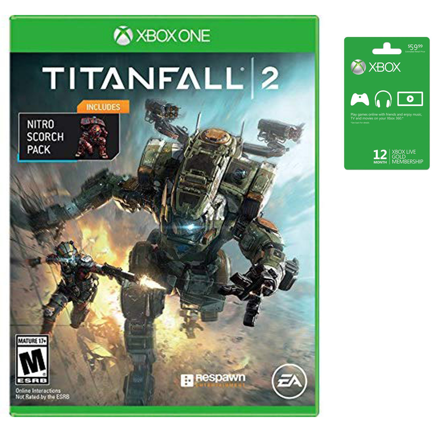 Details about Microsoft Xbox LIVE 12 Month Gold Membership & Xbox One  Titanfall 2 Bundle