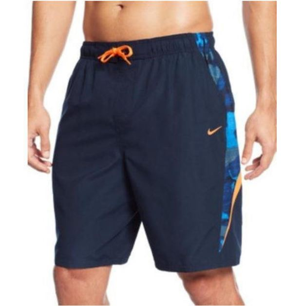 39ca20cb7bb32 Details about Nike Men's Volley Shorts / Swim Trunks Navy Blue Size XX-Large  Style# NESS5339