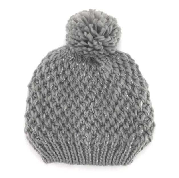 d6f4354e6fcec Details about Rampage Women s Lurex Beanie Hat with Pom-Pom