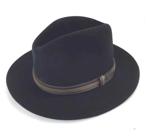f4f1f90fbf24ae Bailey of Hollywood Men's Brandt Fedora Hat Black Size Medium ...