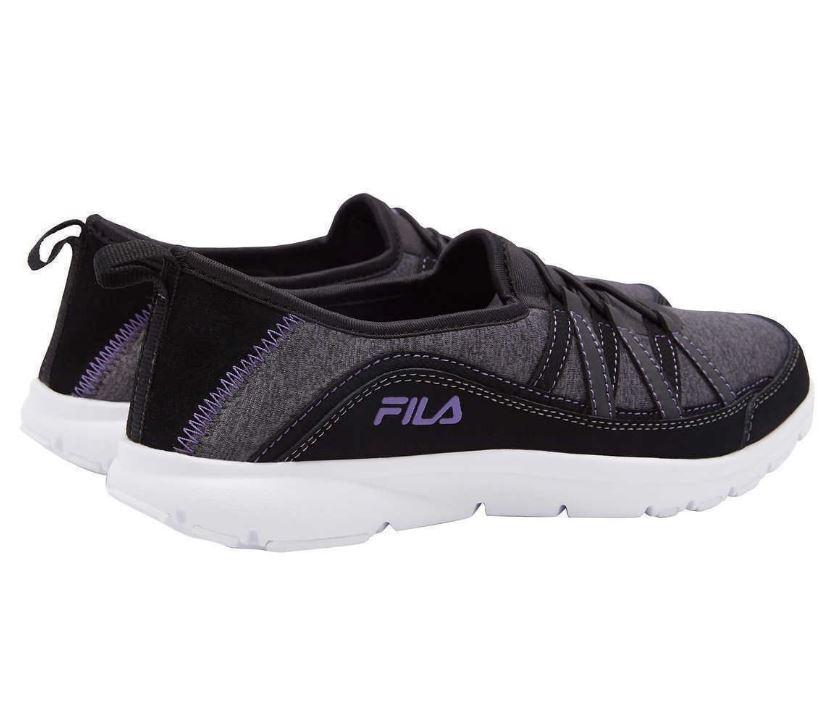 Fila Womens Pilota Memory Foam Breathable Slip On Shoe Sneaker (9, Black)