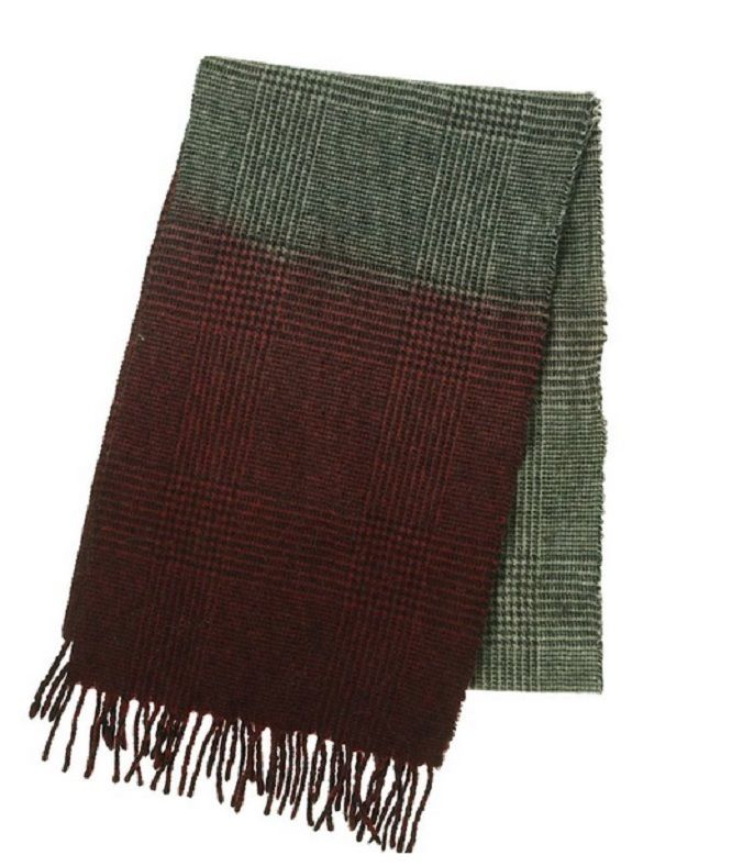 a69d5b5d5682 Details about Altea Men s Wool Blend Houndstooth Scarf Grey   Red One Size  - MSRP  145