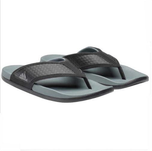 3ef47424623e2 adidas Men s Adilette Ultra Soft Thong Flip-Flop Sandal Black  Grey ...