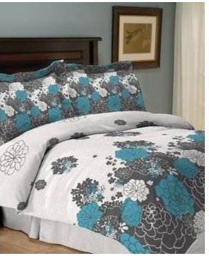 Jessica Sanders Loft 4 Piece Queen Comforter Set Bed In A