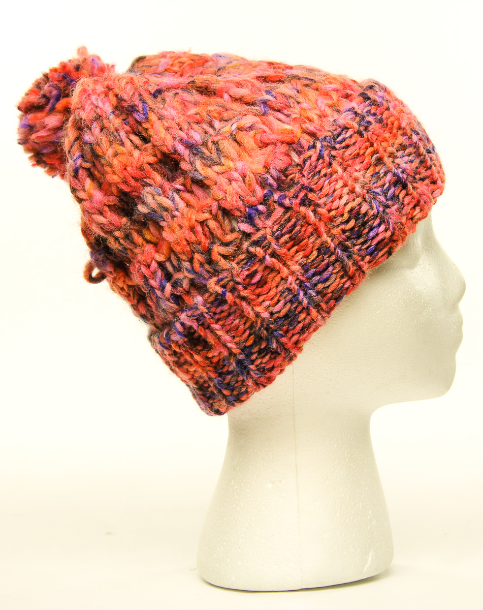 3b006be3524 Details about American Rag Women s Slouch Beanie Hat Pink   Multi