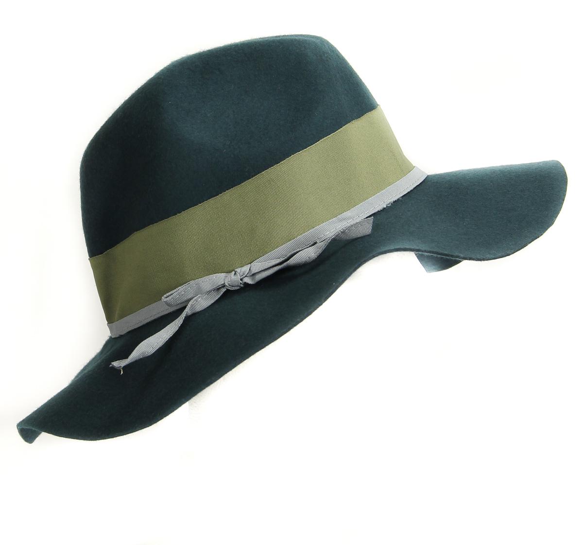 Aqua  HA122219BL Women s Wool Fedora Panama Hat One Size Indian Green -  MSRP  58 a77518347