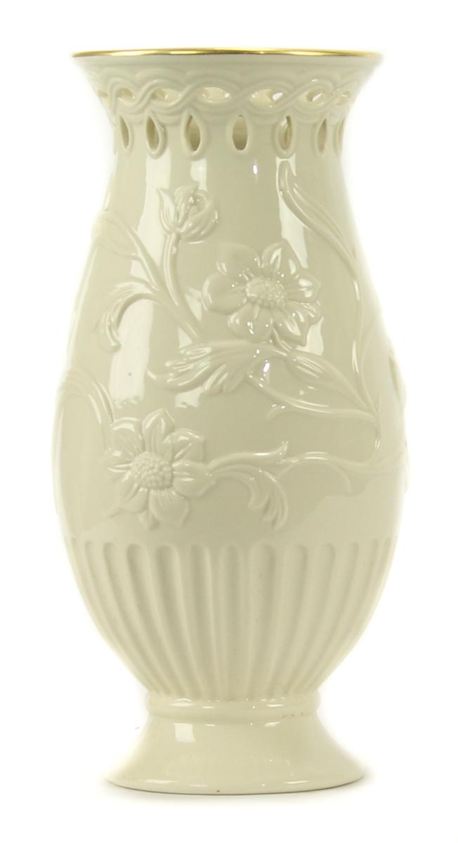 Classic Lenox Lenten Rose Vase With Gold Trim 91709445155 Ebay