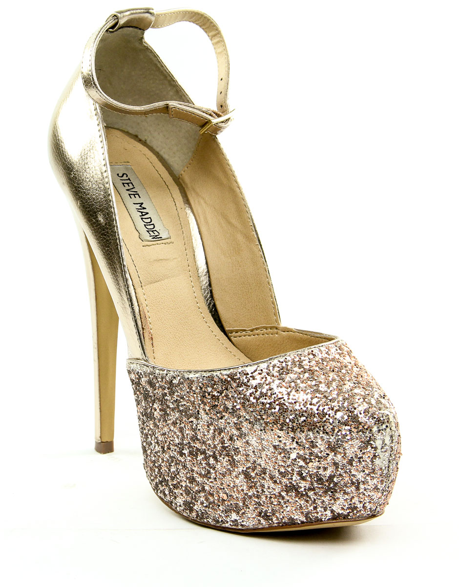 220d51e3d86 Details about Steve Madden Deeny Platform Pump Glitter Multi Women s 9.5 M  US - MSRP  149