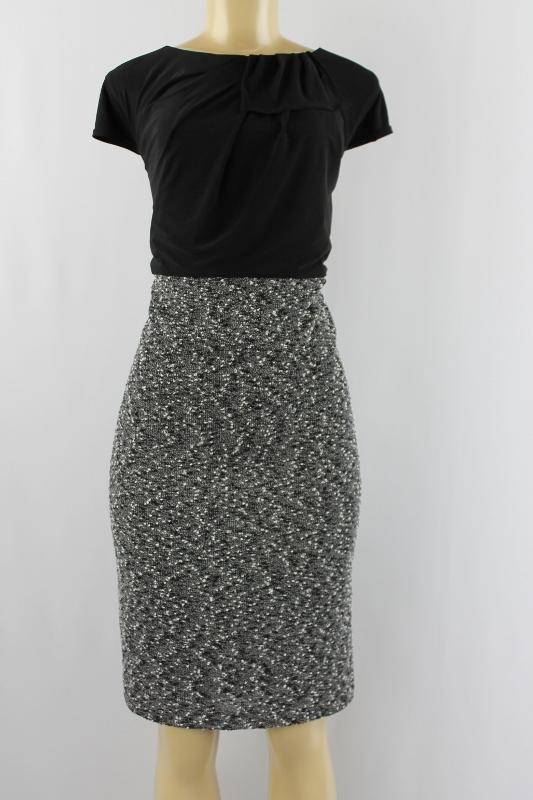 e3249fea1444c Richards Women Dress Cap Sleeves Black White Size 18W on PopScreen