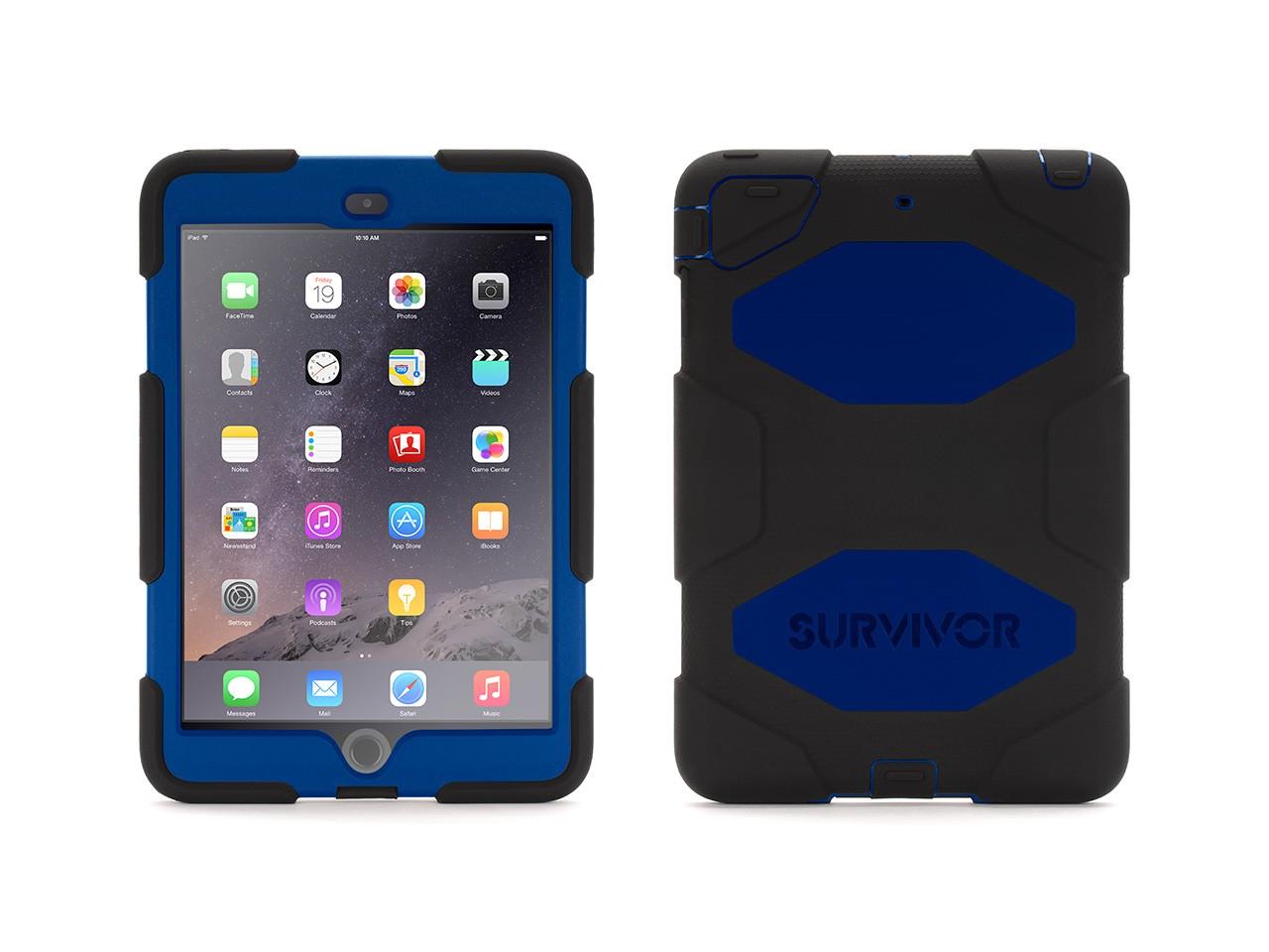 Image of Black/Blue Survivor All-Terrain Case + Stand for iPad mini