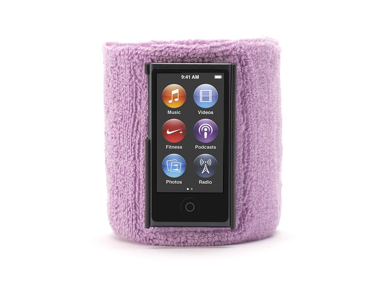 purple sportcuff wristband case for ipod nano 7th gen. Black Bedroom Furniture Sets. Home Design Ideas
