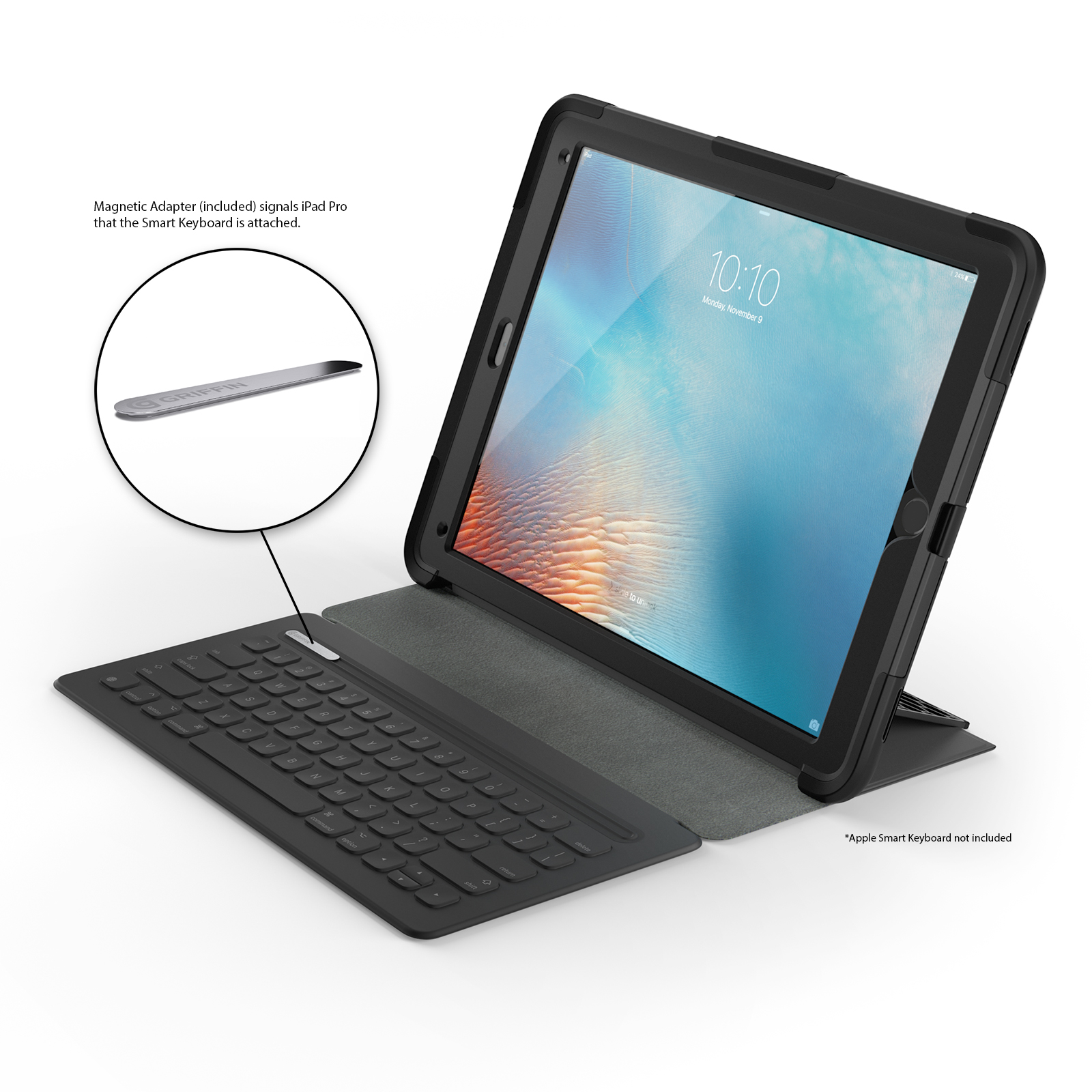 griffin ipad pro 12 9 rugged case survivor slim protective case stand ebay. Black Bedroom Furniture Sets. Home Design Ideas