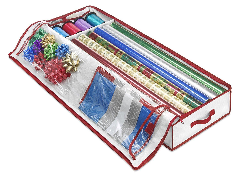 whitmor whitmor christmas gift wrap storage chest by whitmor 1