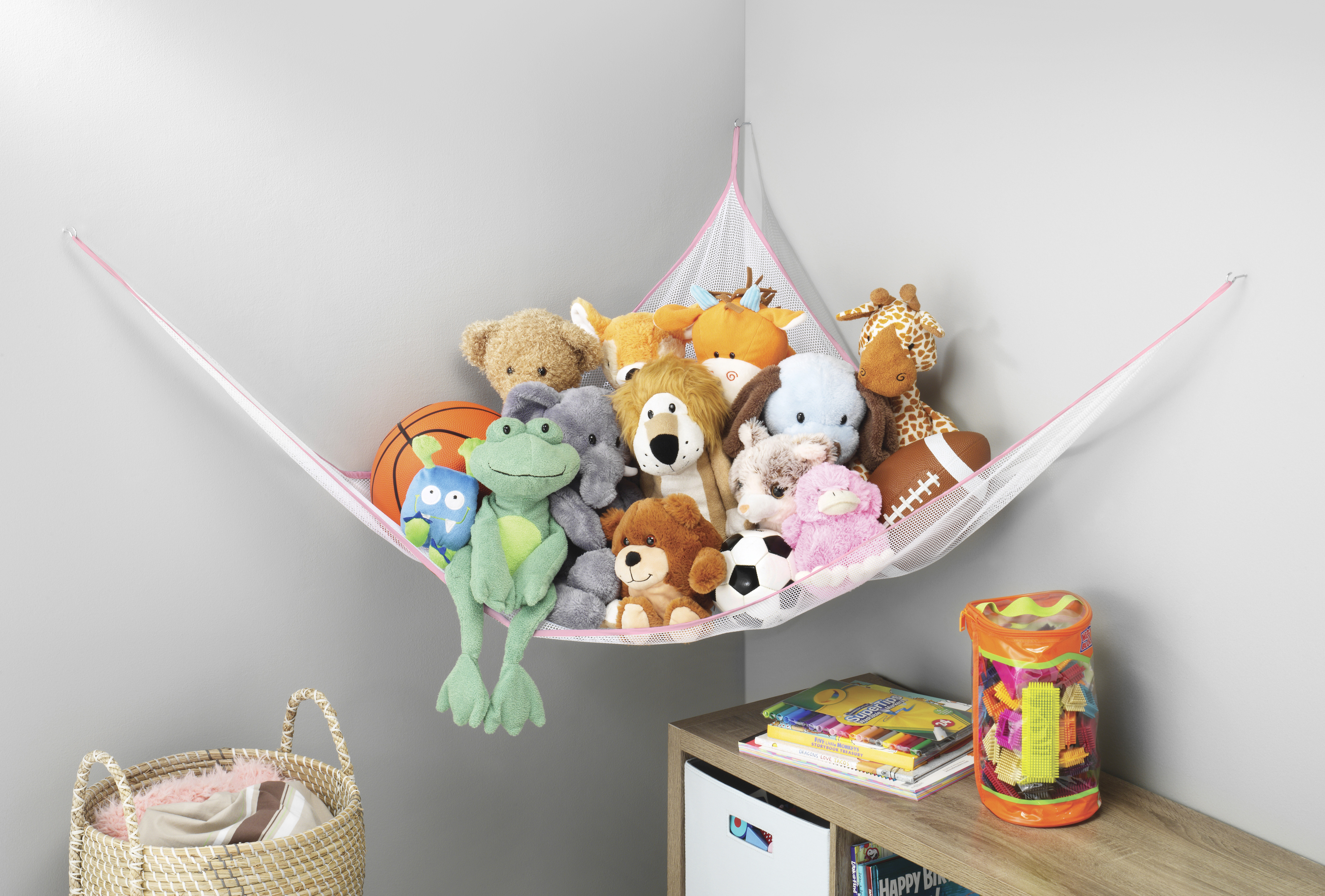 Whitmor Jumbo Toy Hammock Net Organize Stuffed Animals and Kids Bath ...