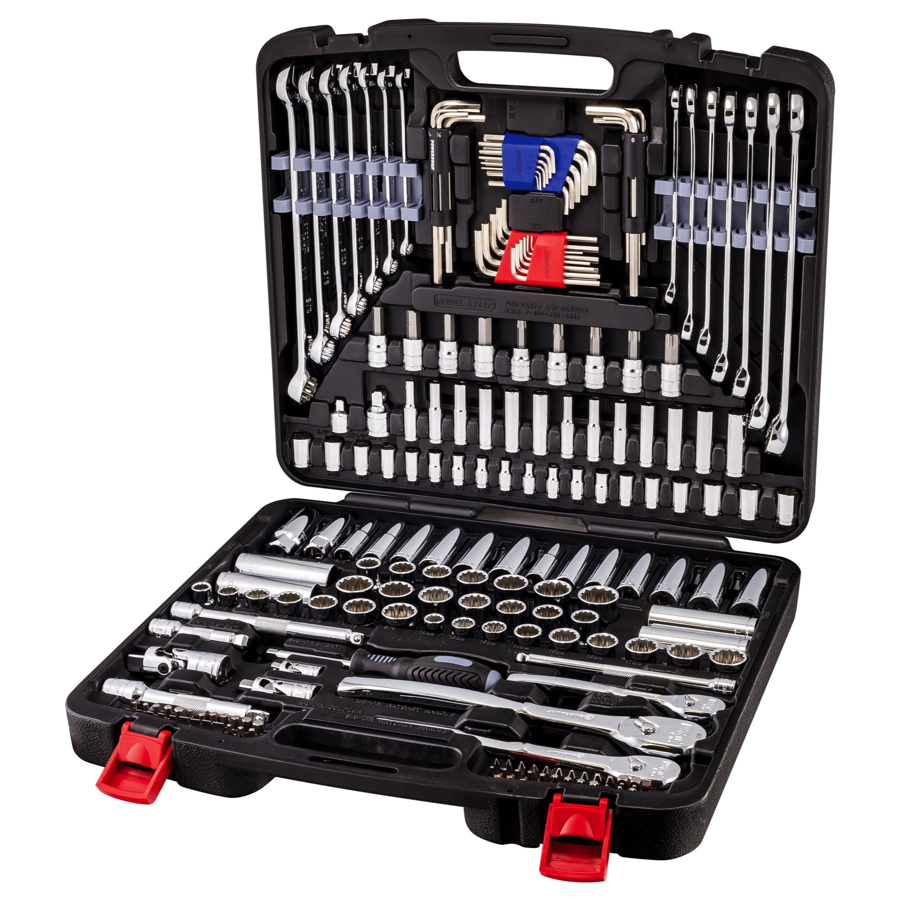642452 Powerbuilt 80 Piece Auto Mechanic/'s Service Tool Set