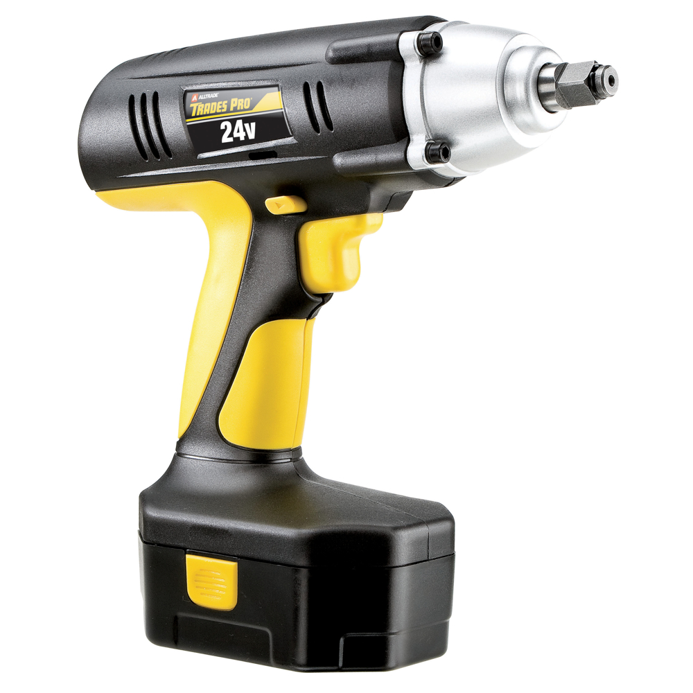 Trades Pro 24 Volt Cordless Impact Wrench 1 2 Drive 240 Ft Lbs