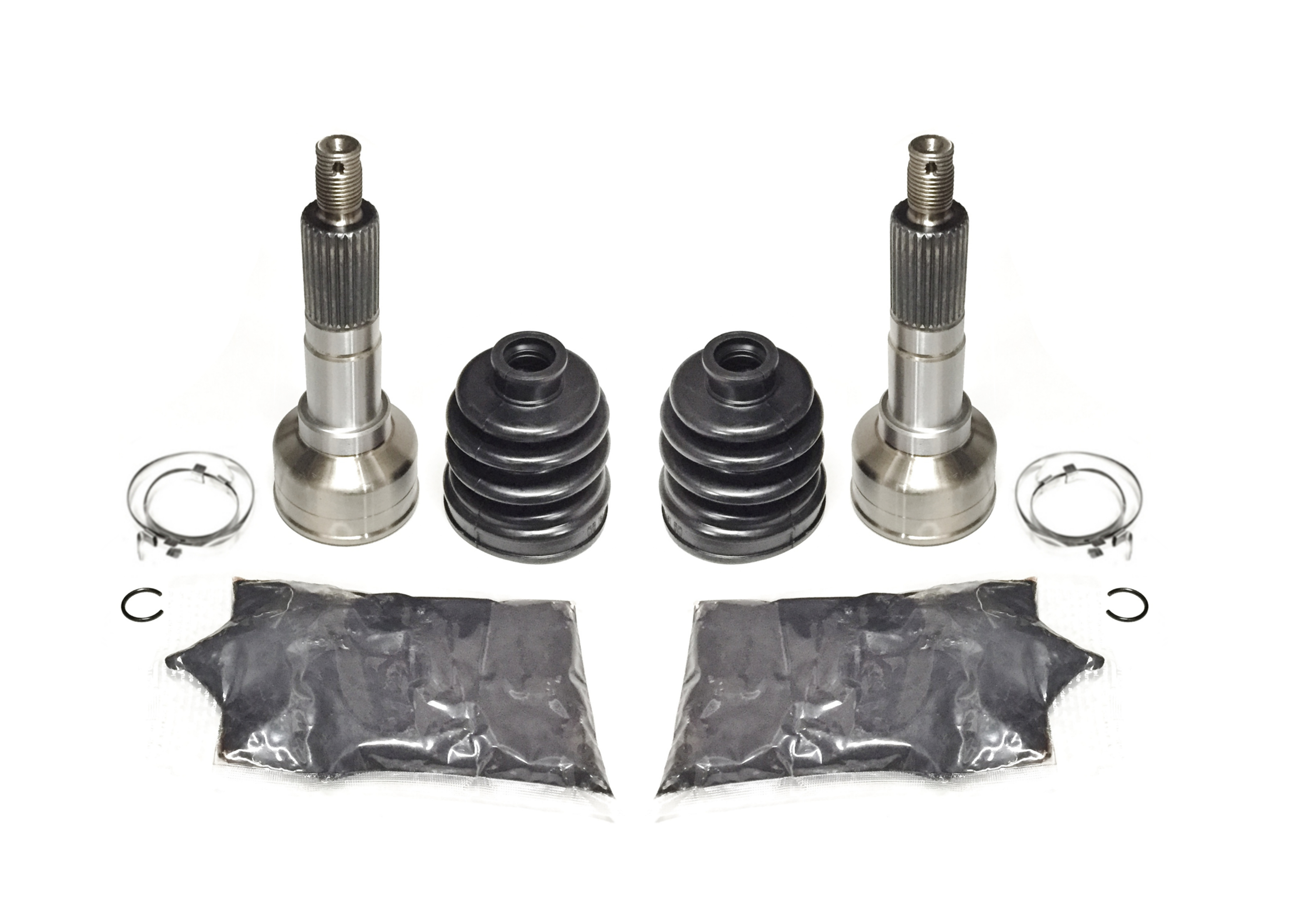 Pack of 4 Front Inner /& Outer CV Boot Kits 1998-2001 Yamaha Grizzly 600 4x4
