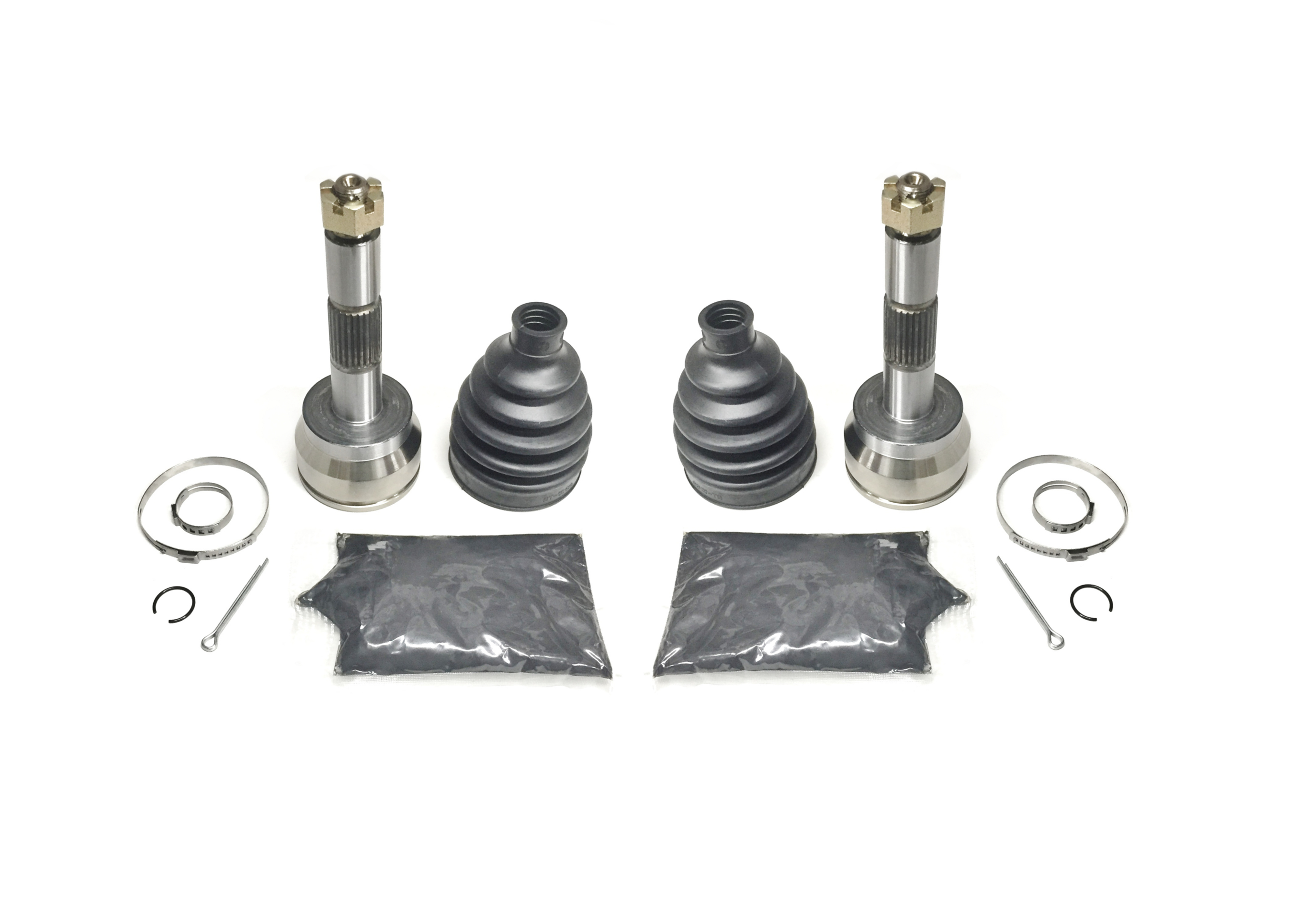 6x6 1998-2001 Polaris 500 Sportsman 4x4 2 Front Axle Outer CV Joint Kits