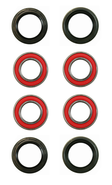 Both Front Wheel Bearings Seals Kit Yamaha Rhino 660 4x4 2004 2005 2006 2007