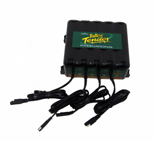deltran 4 bank battery tender charger maintainer 12v 12. Black Bedroom Furniture Sets. Home Design Ideas