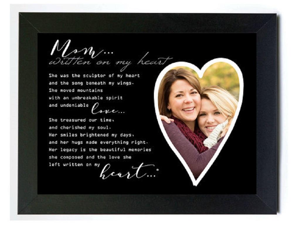 New Grandparent Gift Co Written on my Heart Memorial Photo Frame ...