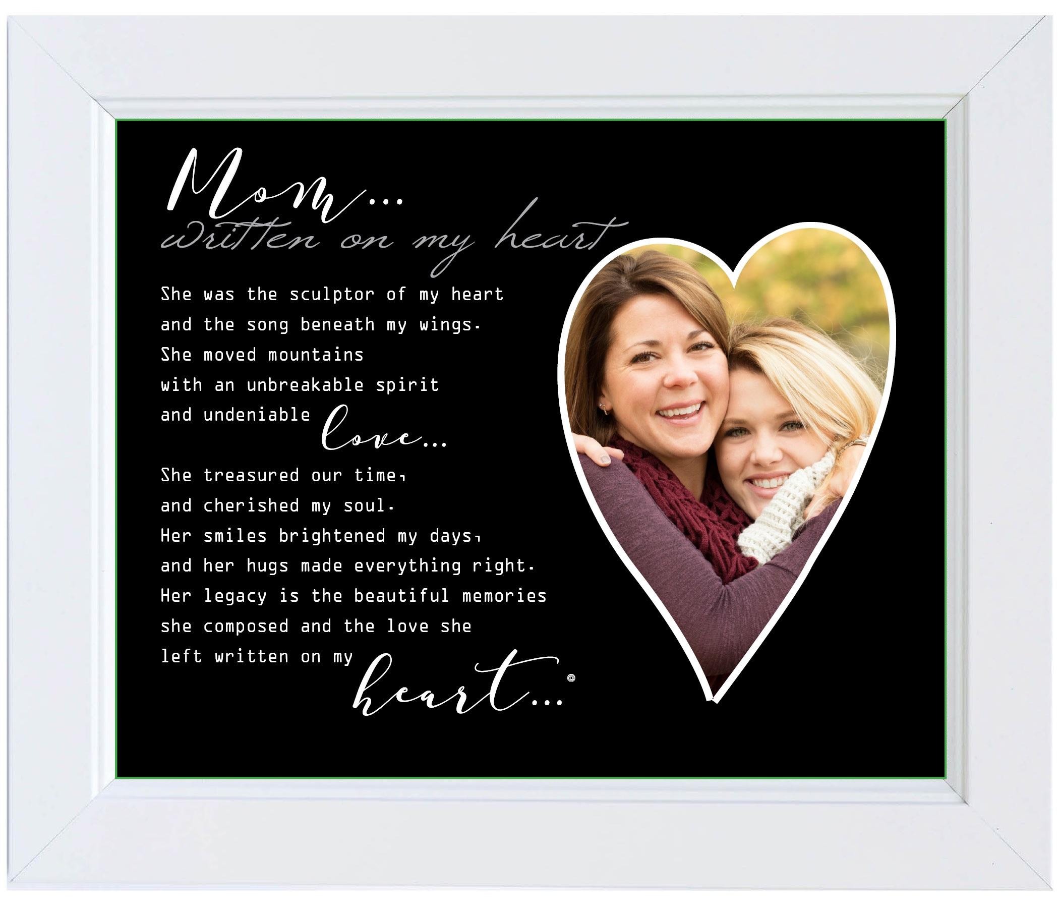 Grandparent Gift Co Written on My Heart Memorial Photo Frame Mom ...
