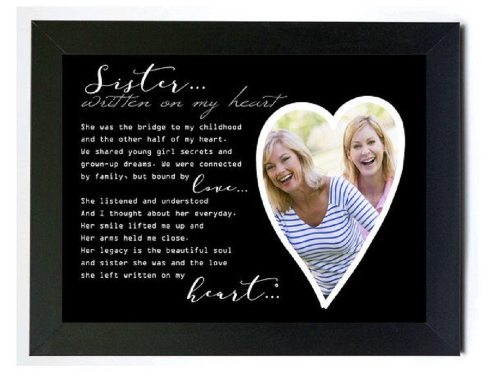 New Grandparent Gift Co Written on my Heart Memorial Photo Frame ...