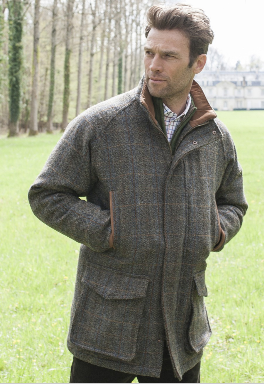 New Wool Mens Saxa Vord Harris Tweed Shooting Jacket Coat - Size ...