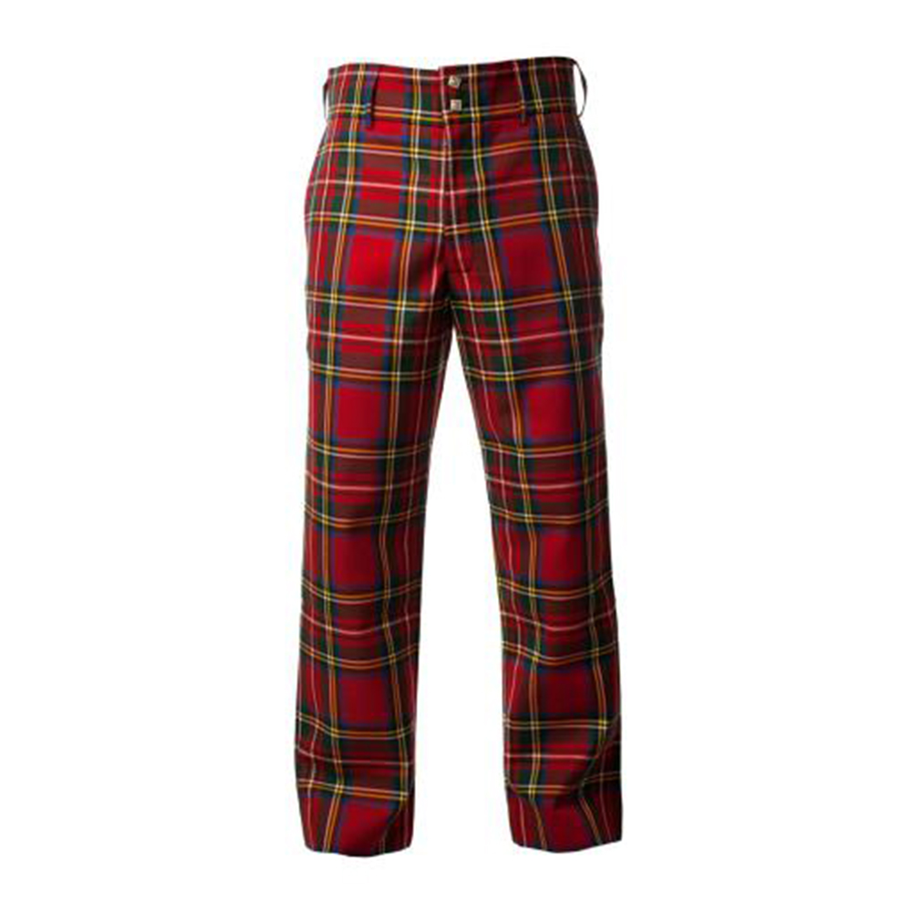 Kinloch Anderson Black Watch Tartan Trousers - Straight Waistband £ Kinloch Anderson offer two styles of tartan trousers: either with straight waistband positioned as for regular suit trousers or with a high waisted fishtail back (which also makes them suitable to wear with a Coatee & Vest).