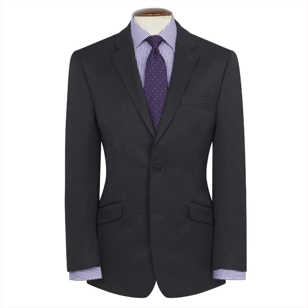 81480e2e80f2 New Mens Brook Taverner Zeus Machine Washable Suit Jacket - Charcoal - Size  36S