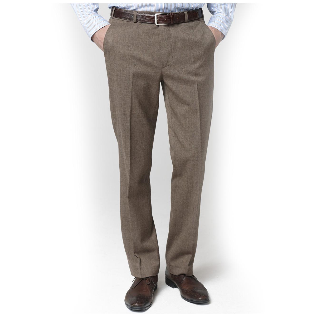 """Smart BROOK TAVERNER Delta 48/"""" para Hombre Clásico Pantalones de un solo Plisado Azul Marino"""