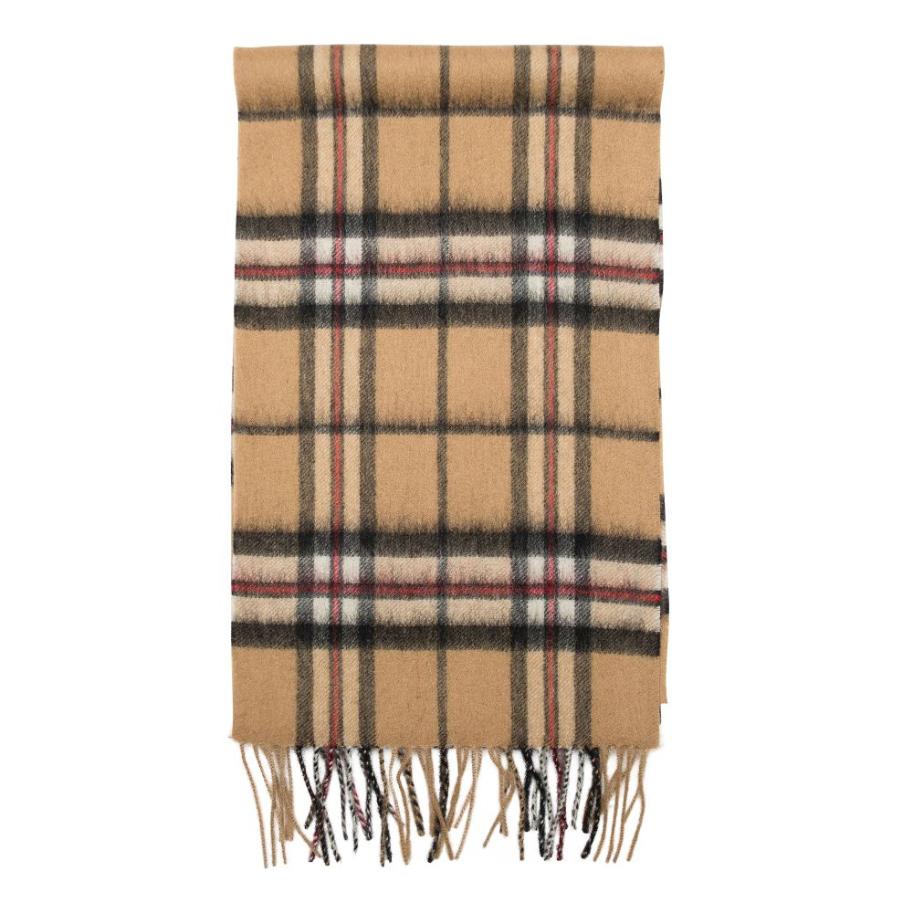 Thomson Camel Tartan Scarf Tan Scottish Wool Clan Scarves