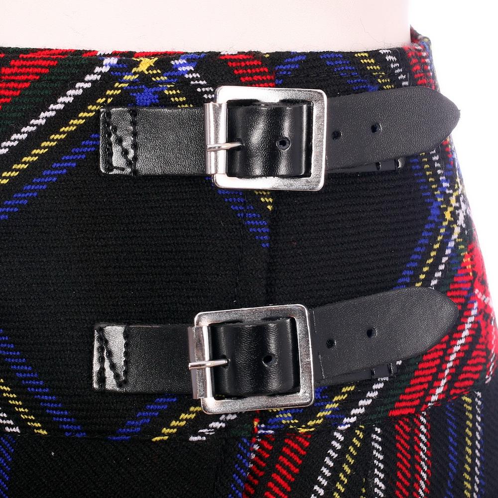 4fbc6dff0 Detalles de Nuevo Mujer en Negro Stewart de Cuadros Escoceses Mini Falda  Billie Mod Tallas