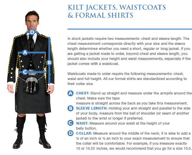 Measuring Guide – Scotland Kilt Co
