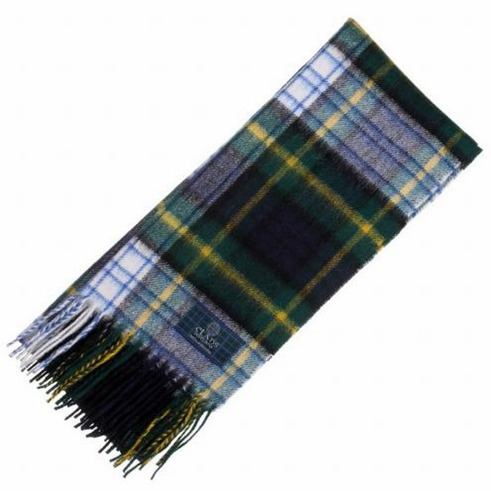 Scottish Wool Clan Scarves New Long Neck Gordon Dress Modern Tartan Scarf