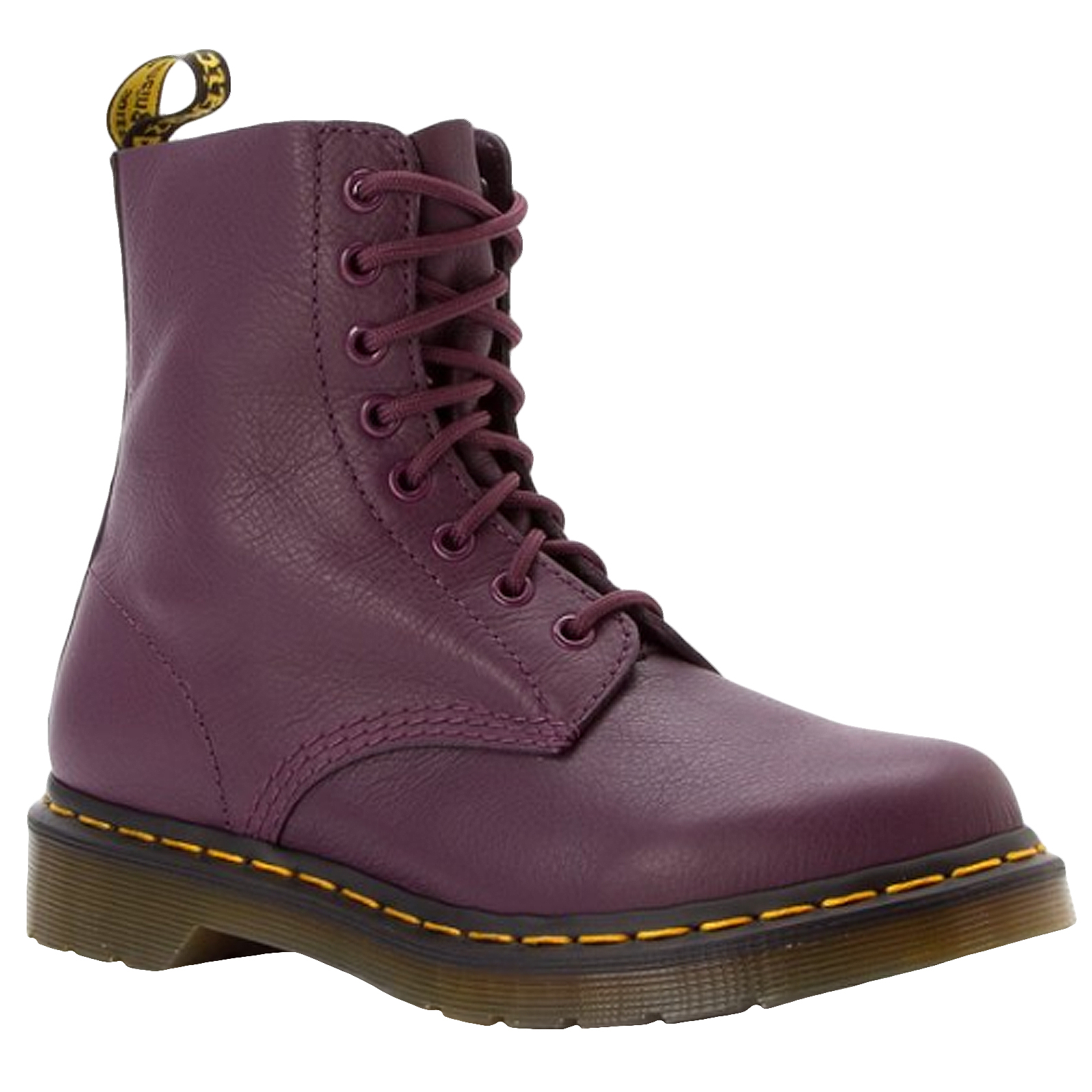 dr doc martens womens pascal virginia leather ankle boots shoes purple 8uk ebay. Black Bedroom Furniture Sets. Home Design Ideas