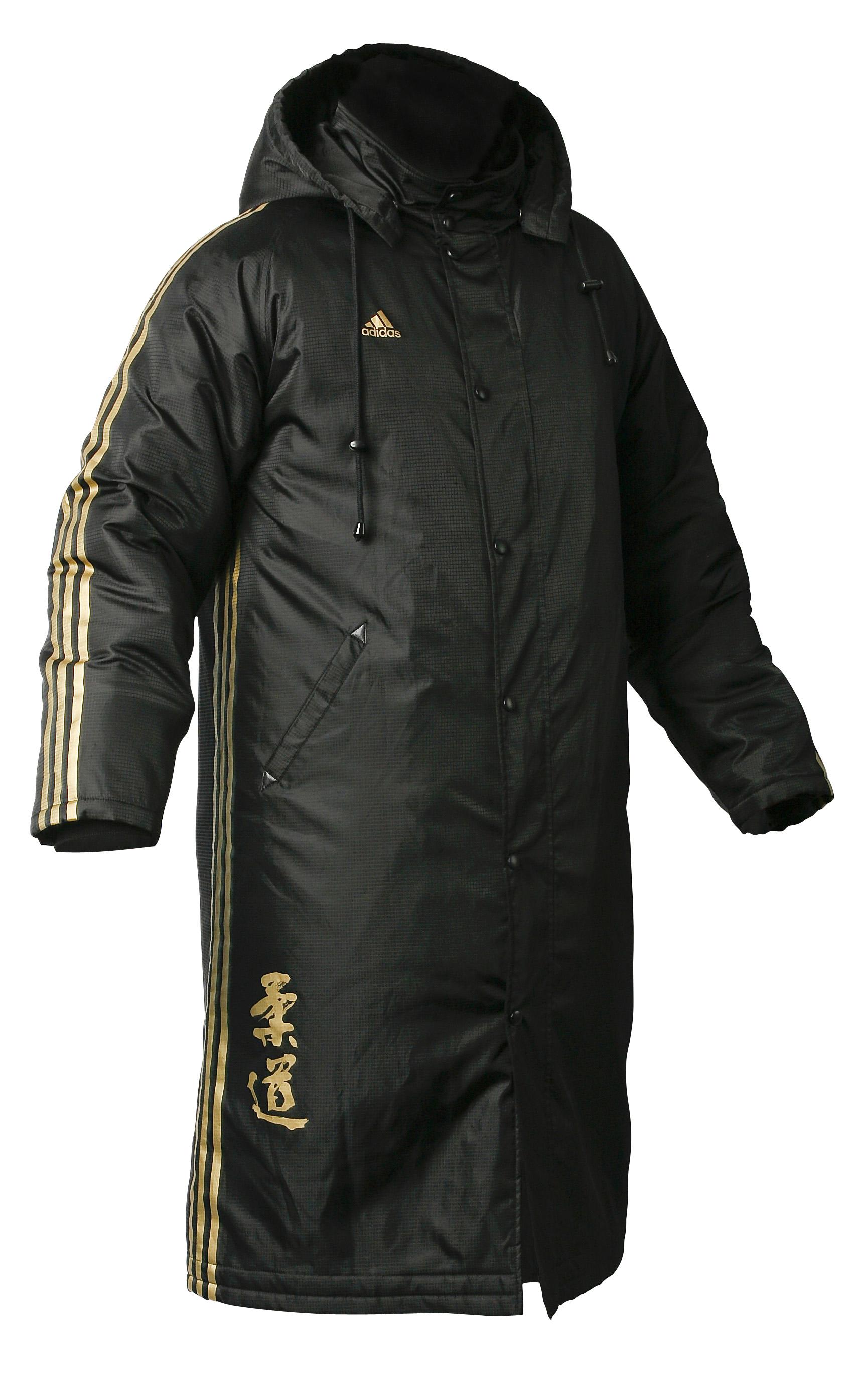 6df9b532e555 Adidas Mens Long Budo Spirit Winter Parka Jacket - Black Puffer Coat ...