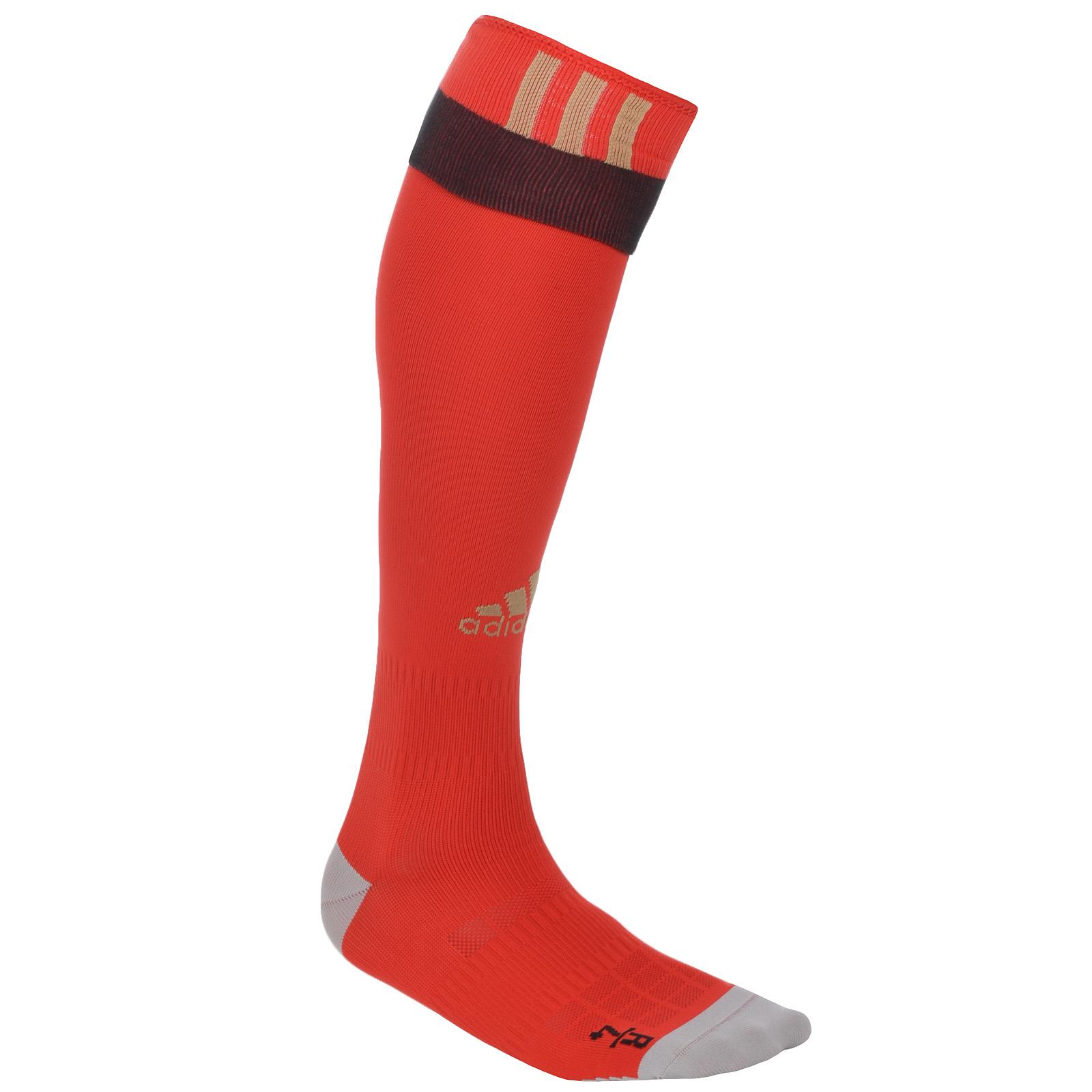 adidas black and orange soccer socks