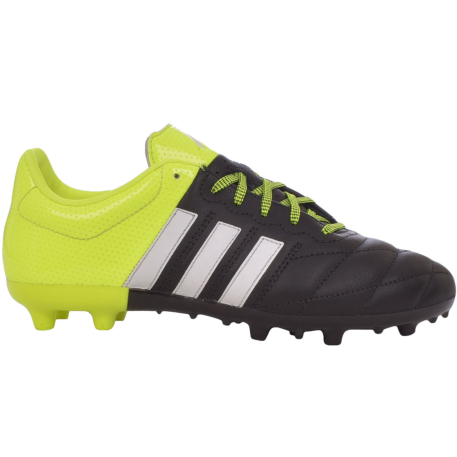 Details about adidas Performance Boys ACE 15.3 Firm Ground AG Leather  Soccer Boots - Black - 5 895b0f593