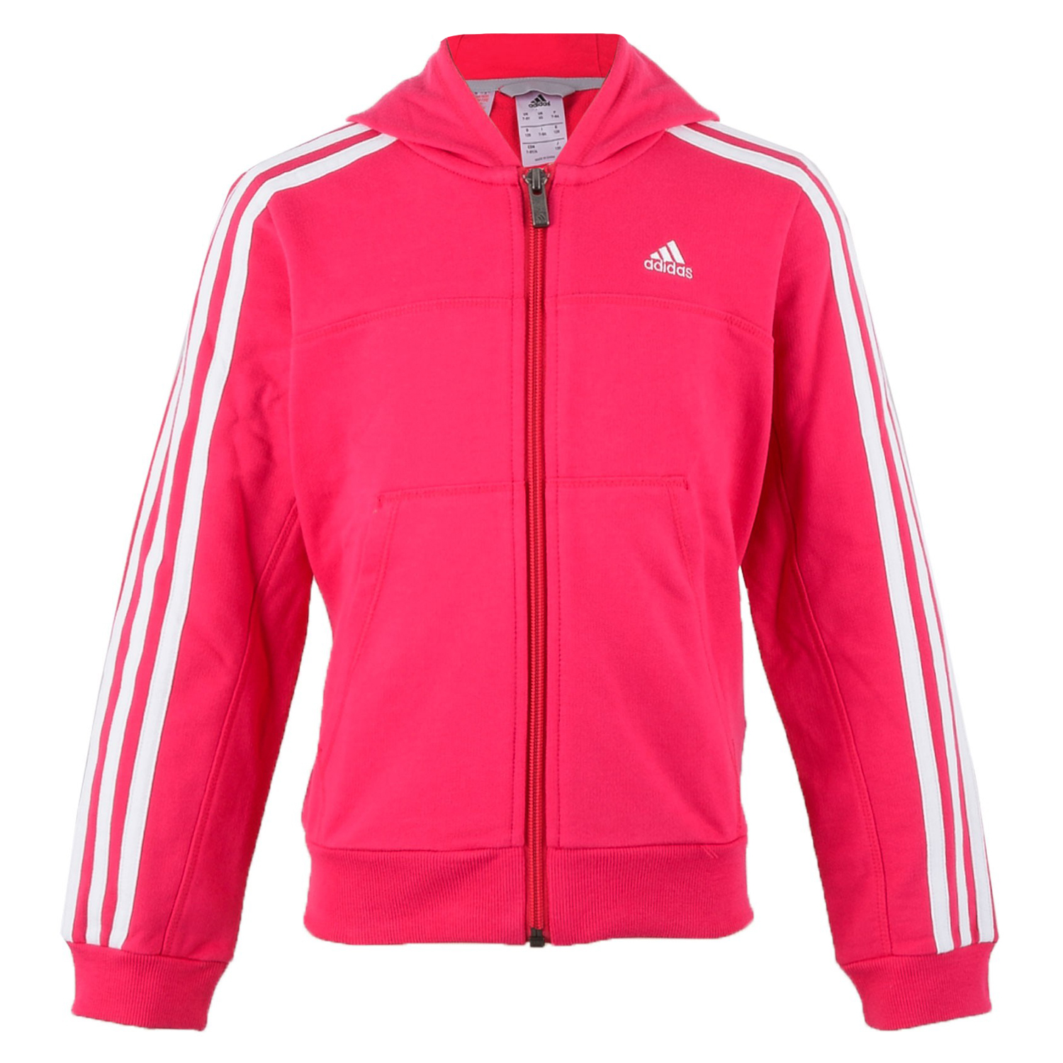 adidas Performance Girls Full Zip Jumper Sweater Sweatshirt Jacket ...