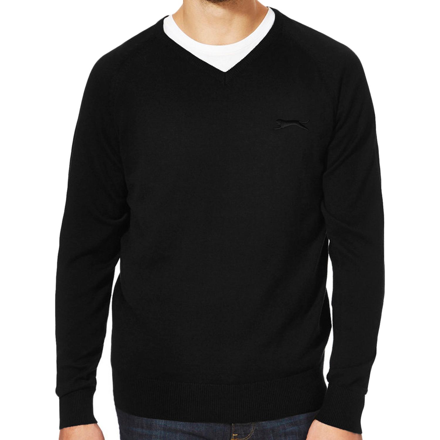 Slazenger Seve Mens Plain V Neck Golf Pullover Jumper Knit Sweater ...