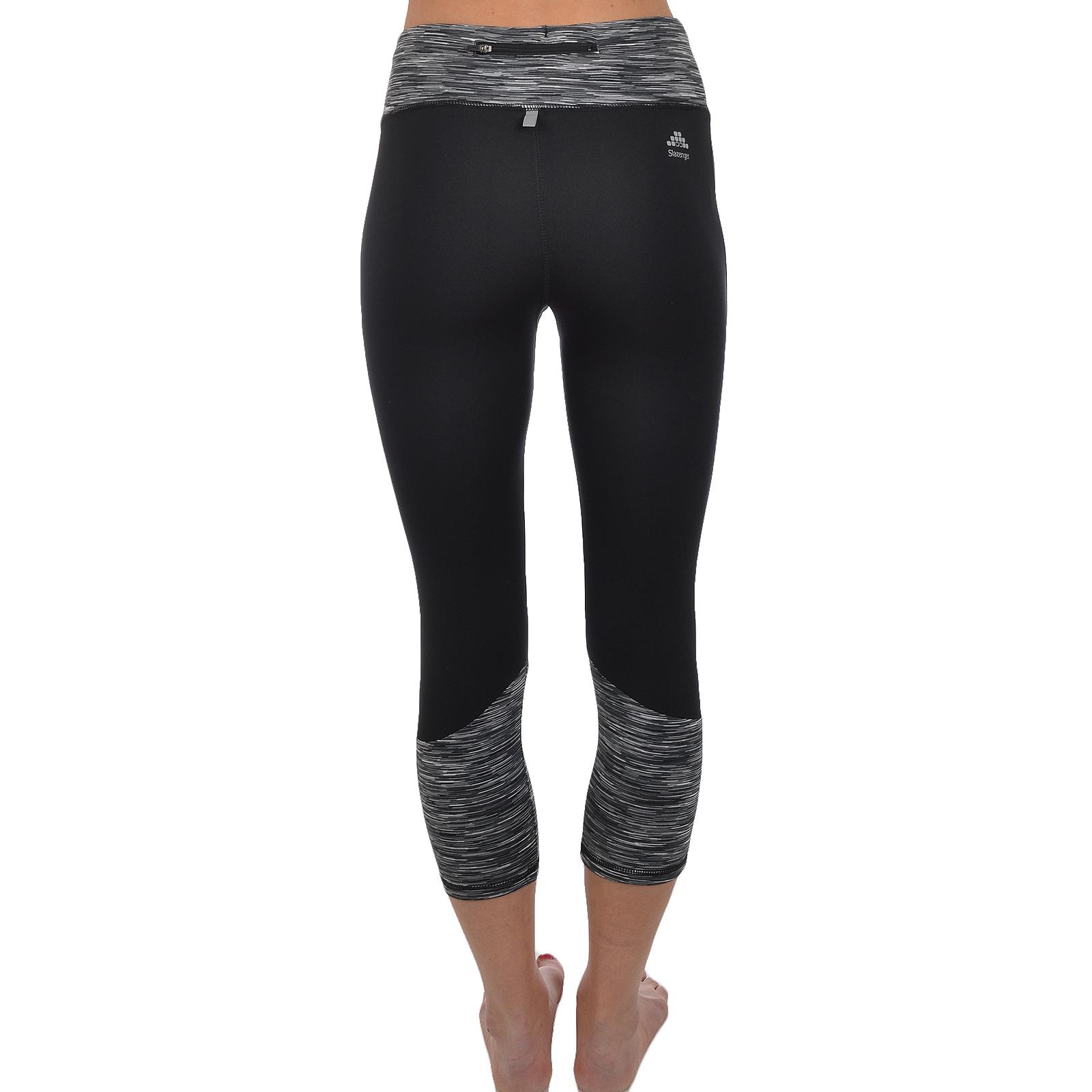 Slazenger Womens Running Gym Sports Leggings Bottoms Pants 3 4 Capri 1084 Trolley Case 28 Inc