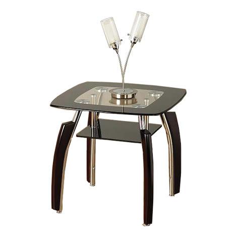 ava black clear glass lamp end table living room side table ebay. Black Bedroom Furniture Sets. Home Design Ideas