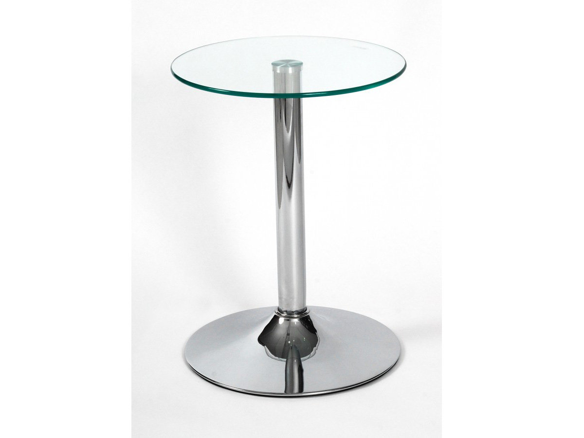 Living Room Side Table Glass And Chrome Drew Lamp