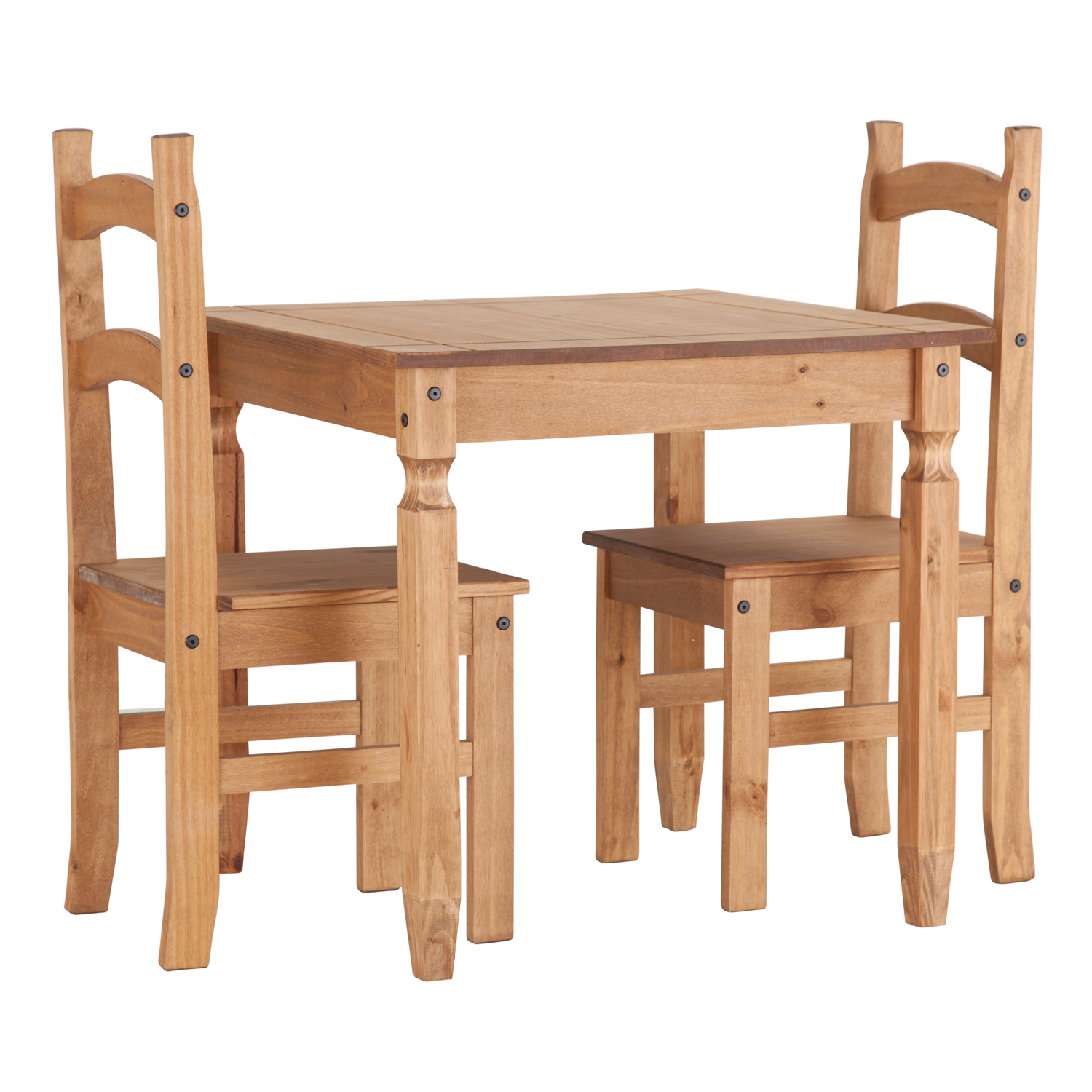 Dining Room Table For 2: Small Pine Dining Room Table And 2 Matching Dining Chairs